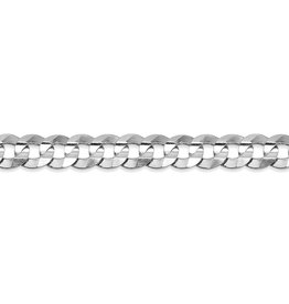 "Curb-W (4.7mm) 24"" White Gold Chain"