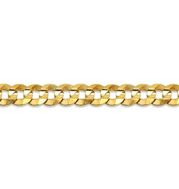 "Curb (4.7mm) 24"" Yellow Gold Chain"
