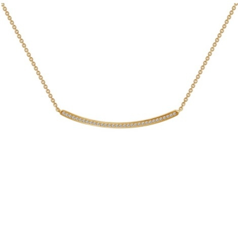 Lafonn Bar Necklace-Y (Curved)
