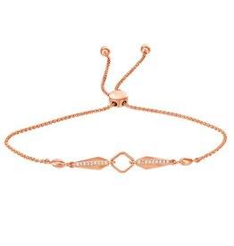 Rose Gold (0.09cttw) Diamond Lariette Bracelet