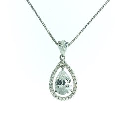 Pear CZ Dangle