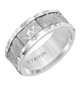Triton Centre Sand Blast Tungsten Ring (9mm)