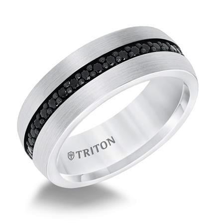 Triton White Tungsten (Black Sapphire)