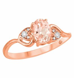 Morganite & Diamond Ring Rose Gold