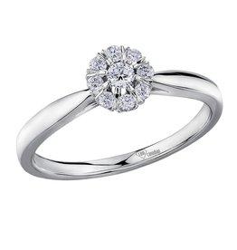 I am Canadian Starburst (0.20ct) Canadian Diamond White Gold Ring