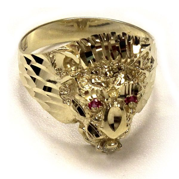 Buy Yellow Gold Lion Head Ring Online In Canada
