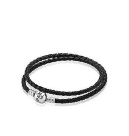 Pandora Black Leather-Double