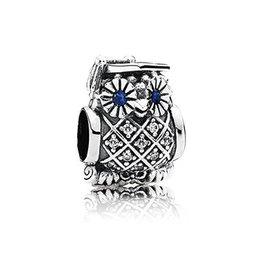 Pandora 791502NSB - Graduate Owl Swiss Blue