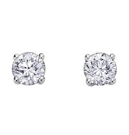 Canadian Diamond Studs(0.59ct) White Gold