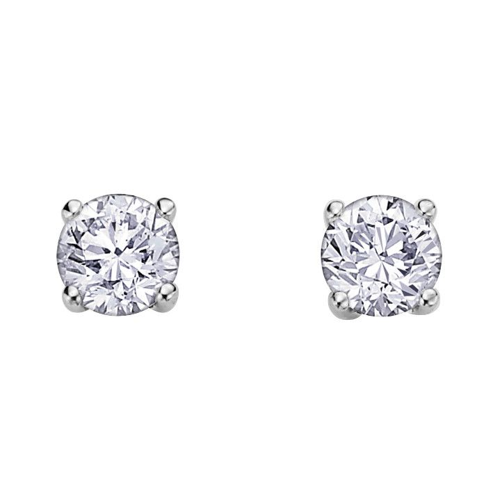 Buy White Gold Canadian Diamond Studs Online In Canada