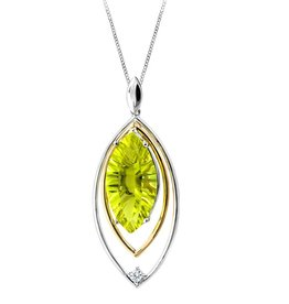 Lime Quartz & Diamond