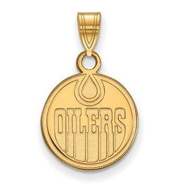 Edmonton Oilers Pendant (12mm) 10K Yellow Gold