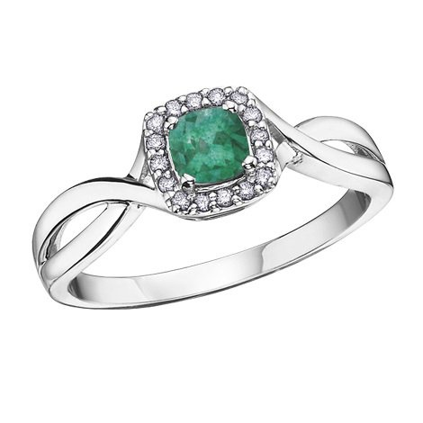 Buy White Gold Diamond Emerald Ring line In Canada Boulevard