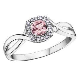 Pink Topaz & Diamond