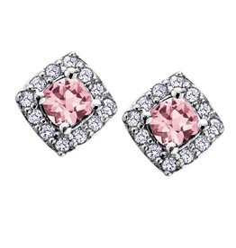 Pink Topaz & Diamonds