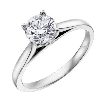 Canadian Diamond Solitare Ring 0 25ct 14kw