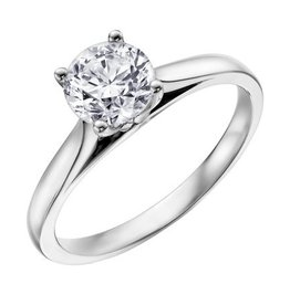 Canadian Diamond Solitare Ring (0.70ct) 14KW