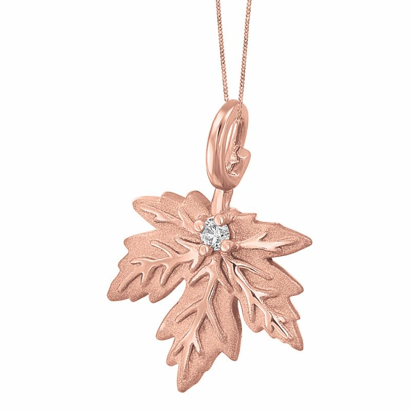 necklace birks pendant leaf plaisirs maple en de
