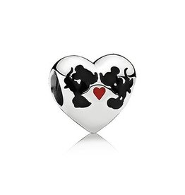 Pandora Minnie & Mickey Kiss