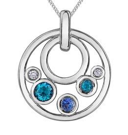 Blue Topaz, Tanzanite & Diamonds