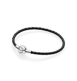 Pandora 590745CBK-S - Black Leather Single