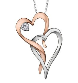 I am Canadian White & Rose Gold (0.05ct) Canadian Diamond Pendant