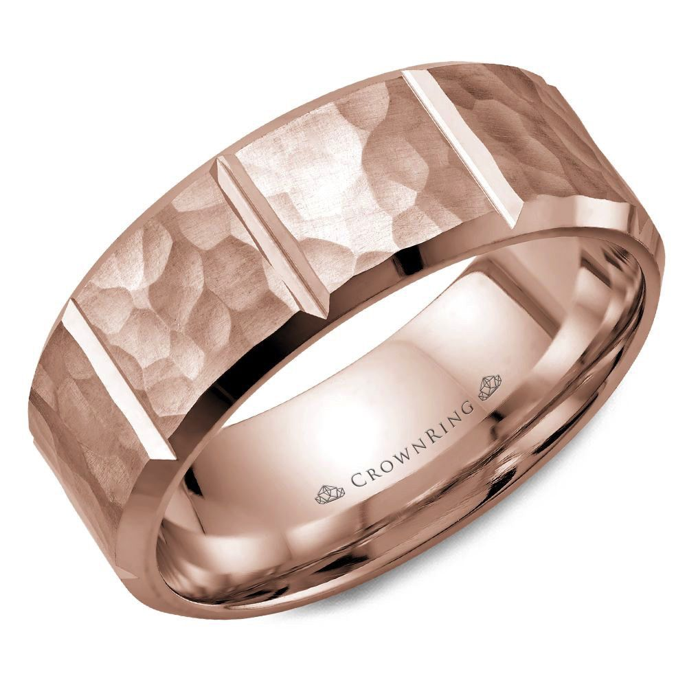 Buy Rose Gold Hammered Finish Ring Online In Canada