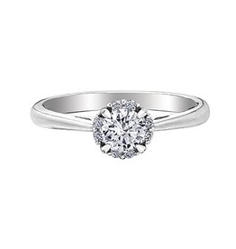 I am Canadian Halo (0.35ct) Canadian Diamond Ring White Gold