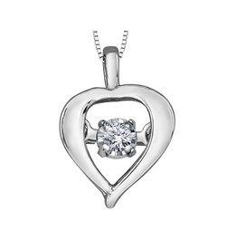 White Gold (0.02ct) Dancing Diamond Pendant