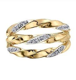 Neo Mode Diamond (0.12ct) Yellow Gold Ring