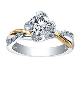 Maple Leaf Diamonds Winds Embrace (0.55ct) Canadian Diamond Two Tone Ring