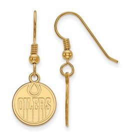 NHL Licensed Edmonton Oilers Dangle Earrings (Gold Plated)