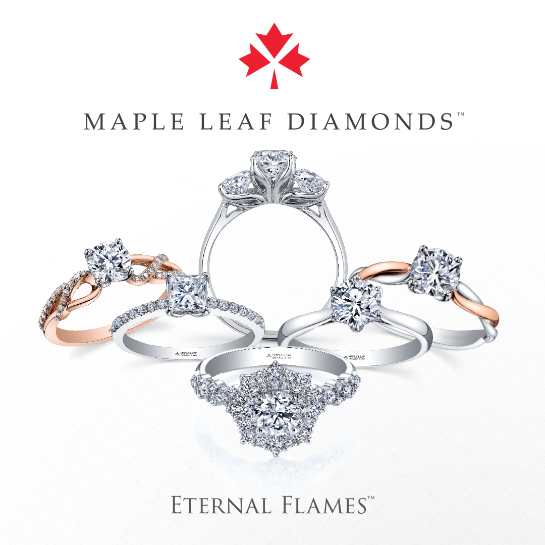 Maple Leaf External Flames Rings