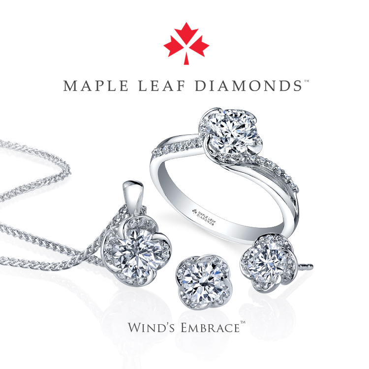 Maple Leaf Winds Embrace Ring