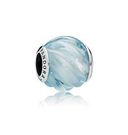 Pandora 797098NAB - Blue Ripples Charm, Aqua Blue Crystal