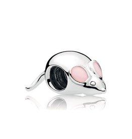 Pandora 797062EN160 - Cute Mouse Charm, Pink Enamel