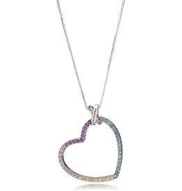 Pandora 397070NRPMX-60 - Limited Edition Multi-coloured Heart Necklace
