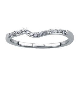 Matching Band (0.08ct) White Gold