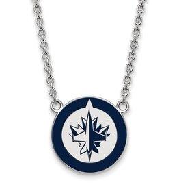Winnipeg Jets Enamel Necklace
