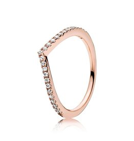 Pandora 186316cz - Shimmering Wish Ring, PANDORA Rose™ & Clear