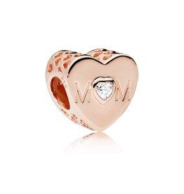 Pandora 781881CZ - Mother Heart, PANDORA Rose™ & Clear CZ