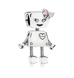 Pandora 797141EN160 - Bella Bot Charm, Pink Enamel