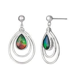 Abigail Ammolite Sterling Silver Earrings
