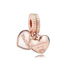 Pandora 782072EN23 - Mother & Daughter Hearts Dangle Charm, PANDORA Rose™