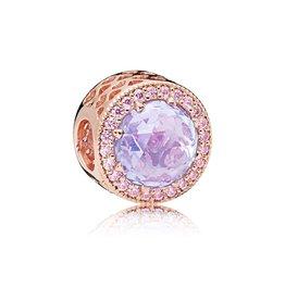 Pandora 781725LCZ - Lavender Radiant Hearts Charm, PANDORA Rose™ & Lavender & Pink CZ