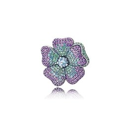 Pandora 397081NRPMX - Glorious Bloom Pendant Brooch, Multi-coloured CZ