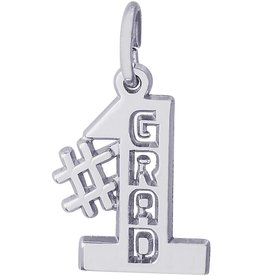 Number One Grad Charm