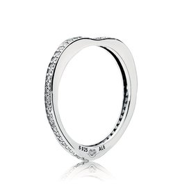 Pandora 197095CZ - Sparkling Arcs of Love Ring, Clear CZ