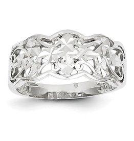 Diamond Cut Wave Ring