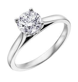 Canadian Diamond Solitare Ring (0.50ct) 14KW